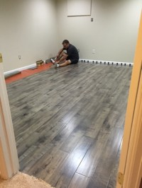 Our first DIY project  laminate flooring in Bens ...