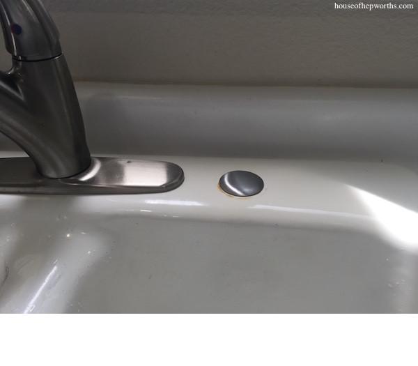 replacing a broken in sink soap pump