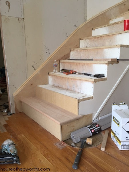 An Amazing Staircase Makeover From Carpet To Wood House Of | Stairs Covered In Wood | Round | Interior | Metal | Random | Luxury