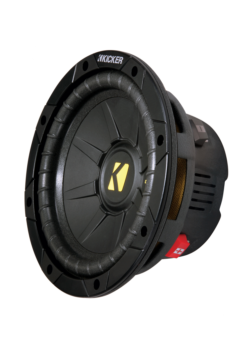 hight resolution of kicker cwd84 8 in 4 ohm dual voice coil quad venting compd subwoofer w