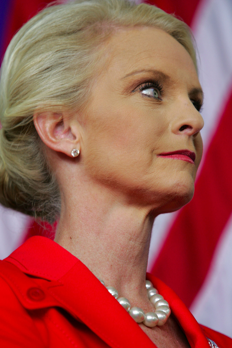Dear Cindy McCain Please Pull Up Your Shirt And Tie Back