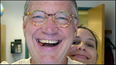 David Letterman and Stephanie Birkitt--just friends.  Really (Courtesy: HuffPo)