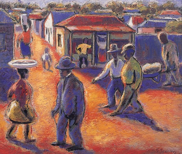African Art Museum Painting