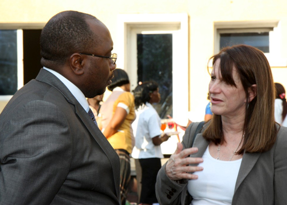 International Development minister Lynne Featherstone with Félix Kabange Numbi Mukwampa, the minister of Health in DRC