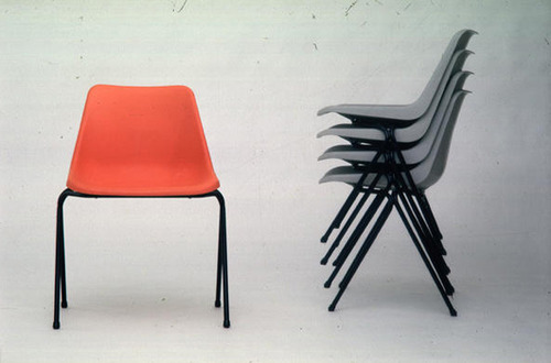 stackable chairs for less chair lift companies mid-century icon: the lunch room   huffpost