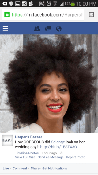 Solanges Bridal Afro Upsets Beauty Standards HuffPost