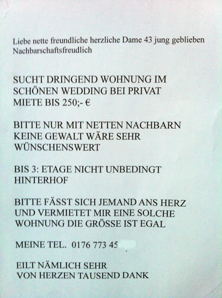 6 Zettel die zeigen wie Wohnungssuche in Berlin wirklich