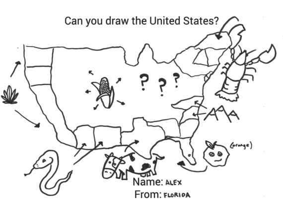 I Asked 20 Coworkers To Draw The United States. Most