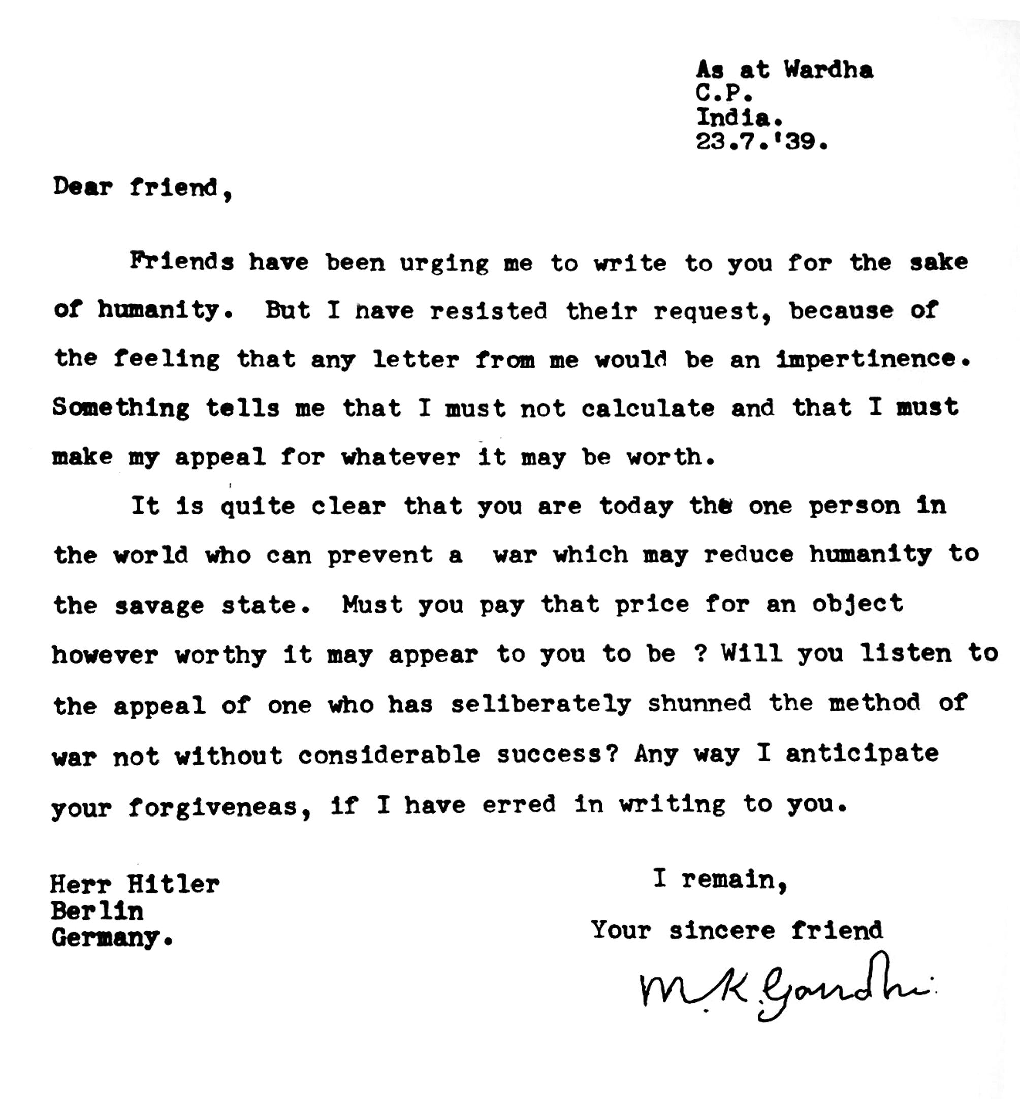 Jack Lo Squartatore Gandhi Hitler La Corrispondenza Dei