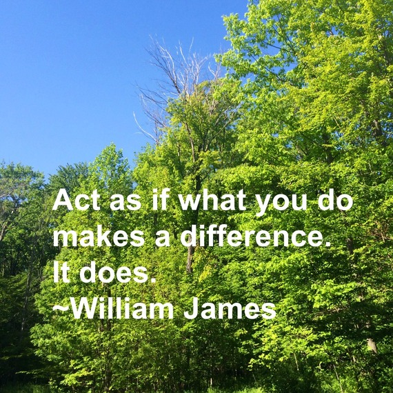 """Act as if what you do makes a difference. It does."" ~ William James #quote http://charityideasblog.com A Dozen #Inspiring Quotes for an Insightful 2015"
