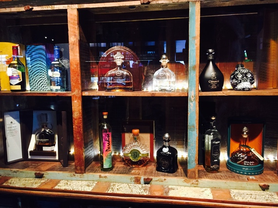 A shrine tequila at TQLA. (Photo credit: Scott Bridges)