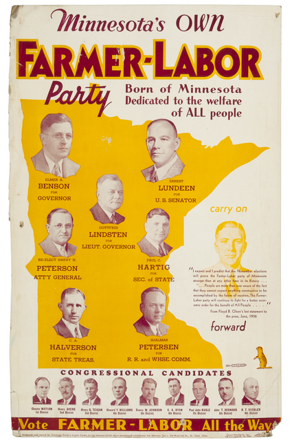 Image result for Minnesota Farmer–Labor Party