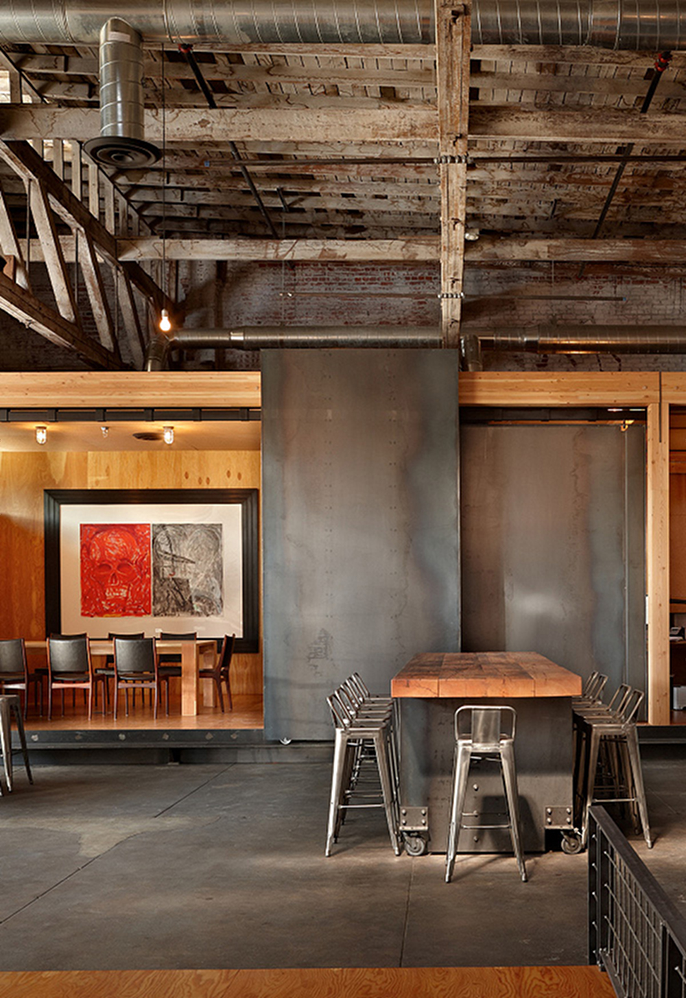 Metal  Wood a match made in  interior design  heaven