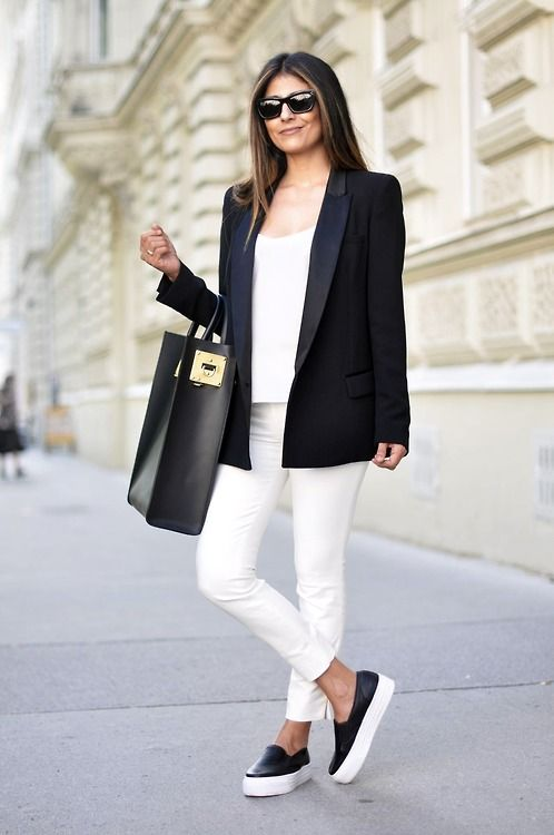 Image result for fashion looks with sneakers for work