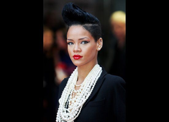 Rihanna at the premier of Inglorious Basterds