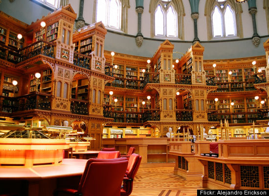 Canadian Library of Parliament in Ottawa