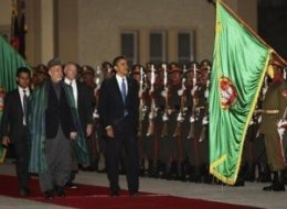 Obama, Karzai on red carpet