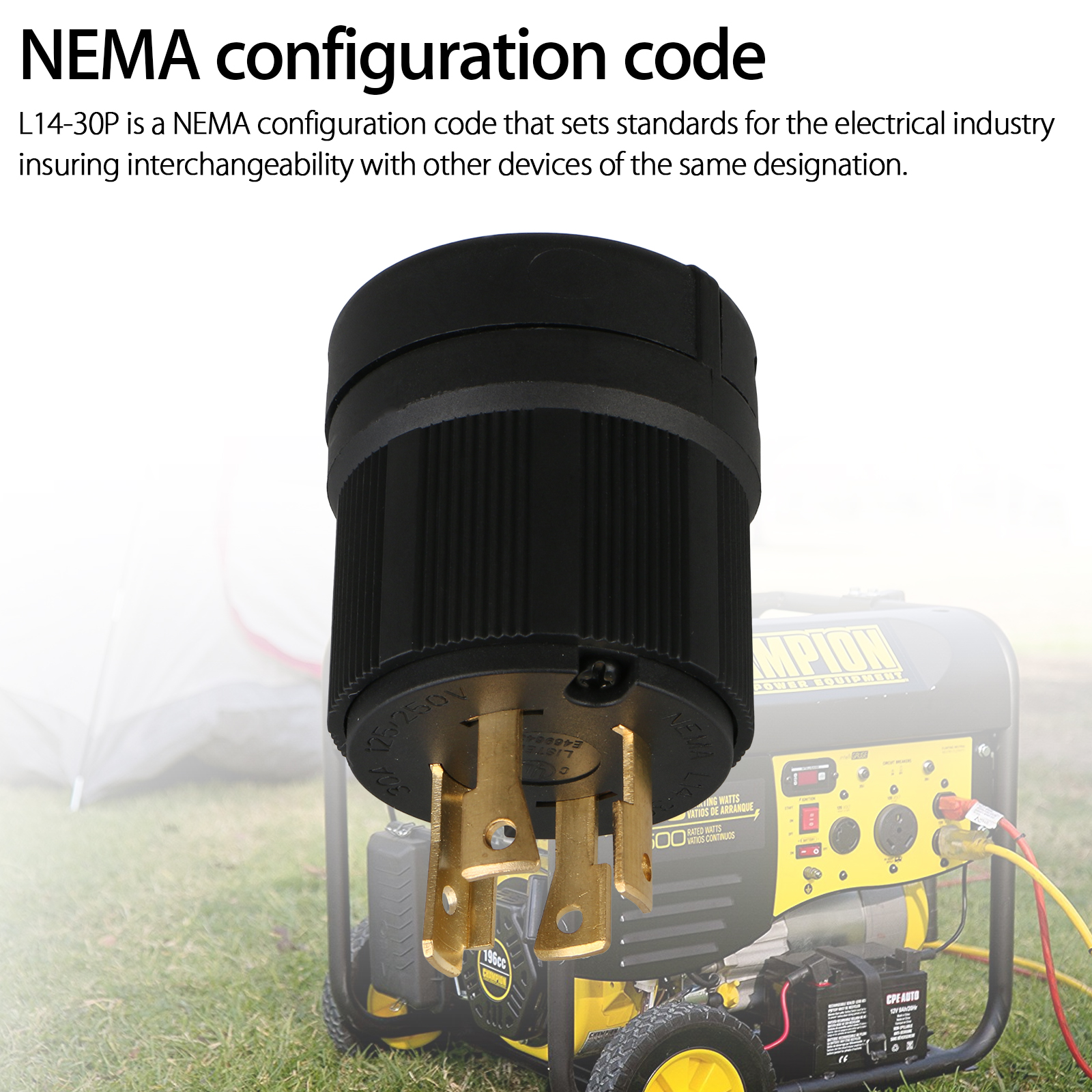 nema l14 30p wiring diagram 2 hot water system thermostat 125v 250v 4 wire twist lock electric male plug connector