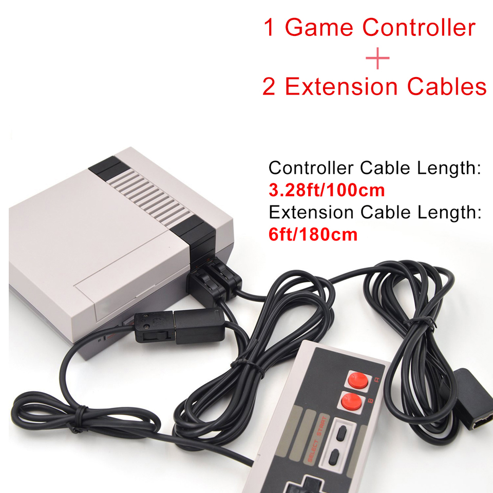 1PC Game Controller2 PCS Extension Cable For Nintendo NES