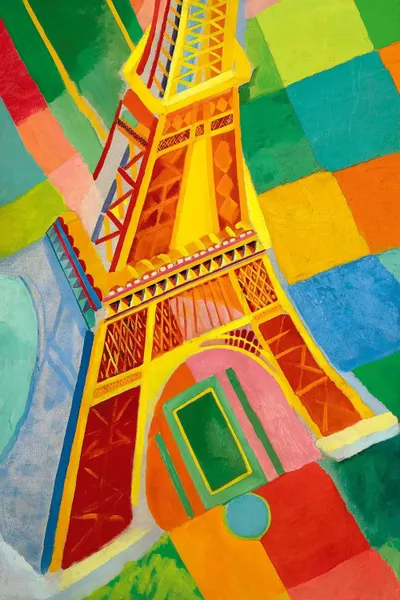Tour Eiffel Tower Canvas Art Print By Robert Delaunay