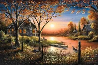 Fall Mountains Hd Desktop Wallpaper An Autumn Sunset Canvas Art By Chuck Black Icanvas