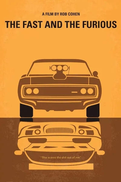 The Fast And The Furious Minimal Movie Poster Art