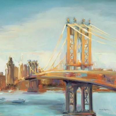 Sunny Manhattan Bridge Canvas Wall Art By Marilyn Hageman ICanvas