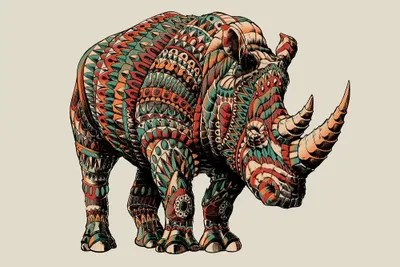 rhino in color i