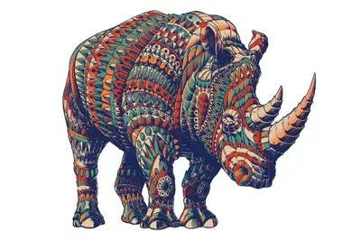 rhino in color iii
