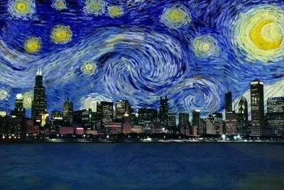 chicago illinois starry night