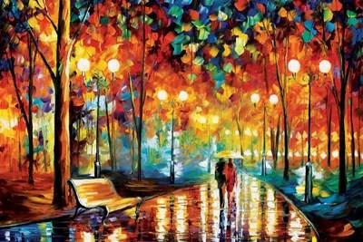 glitter love canvas print