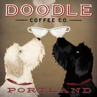 Doodle Coffee Co. Canvas Wall Art by Ryan Fowler | iCanvas
