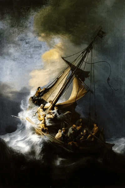 The Storm On The Sea Of Galilee Canvas Art By Rembrandt