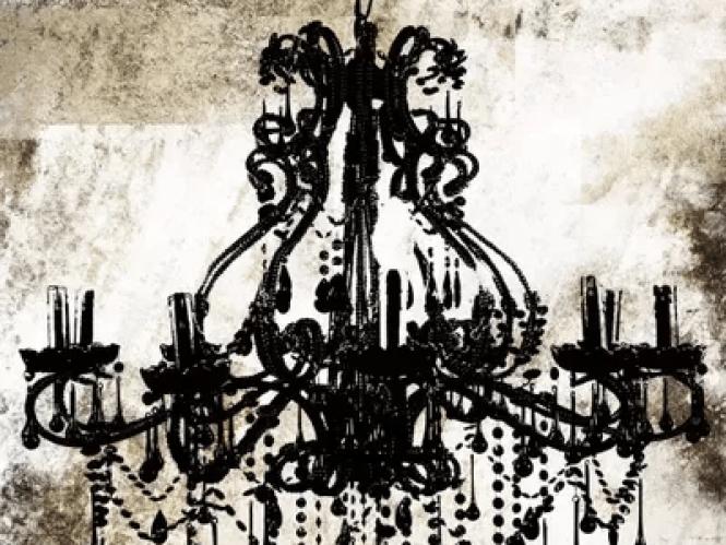 Black Chandelier By Icanvas 1 Piece Canvas Art