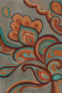 Bohemian Paisley I Canvas Art Print by Silvia Vassileva ...