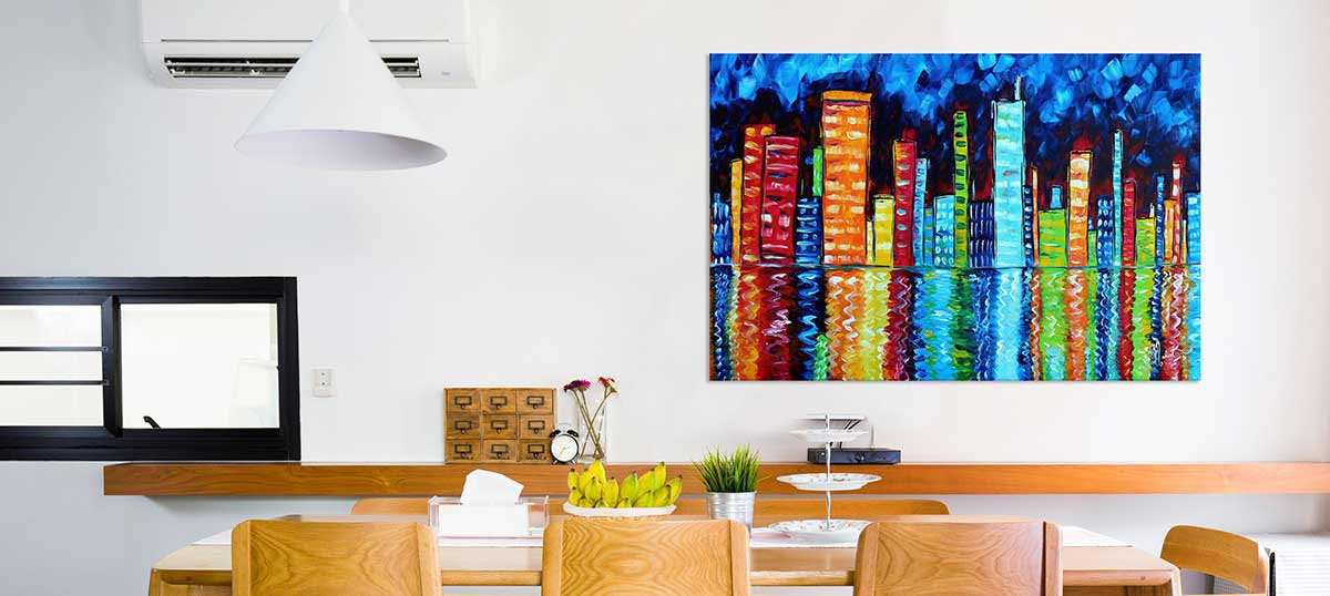 giant colorful accents canvas