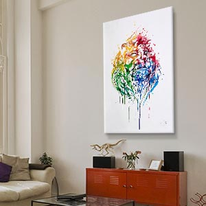 large canvas art for living room grey black and purple ideas wall big prints icanvas floral botanical animals