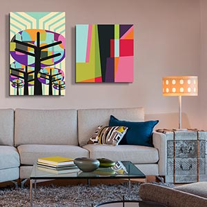 paintings for living room italian furniture shop by canvas prints icanvas wood metal mid century graphic art