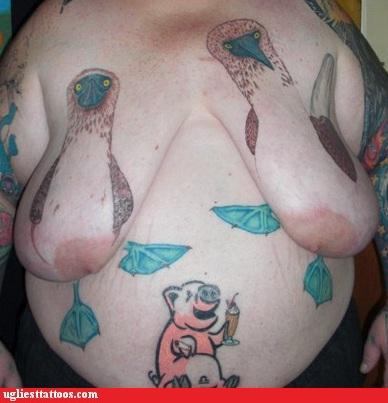 Image result for saggy boobs middle aged tattoo
