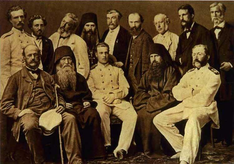 Великий князь Алексей Александрович во время посещения Свято-Пантелеимонова монастыря в июне 1867 г.(фото из библиотеки Свято-Пантелеимонова монастыря)