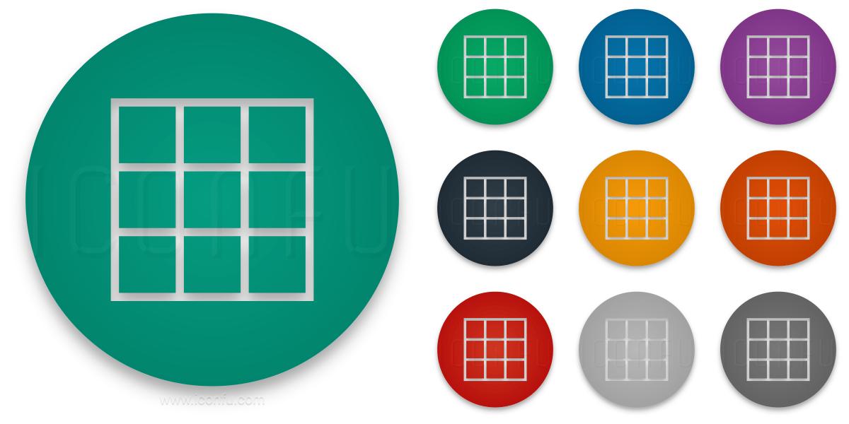 Spreadsheet Icon - Circle Style - Iconfu