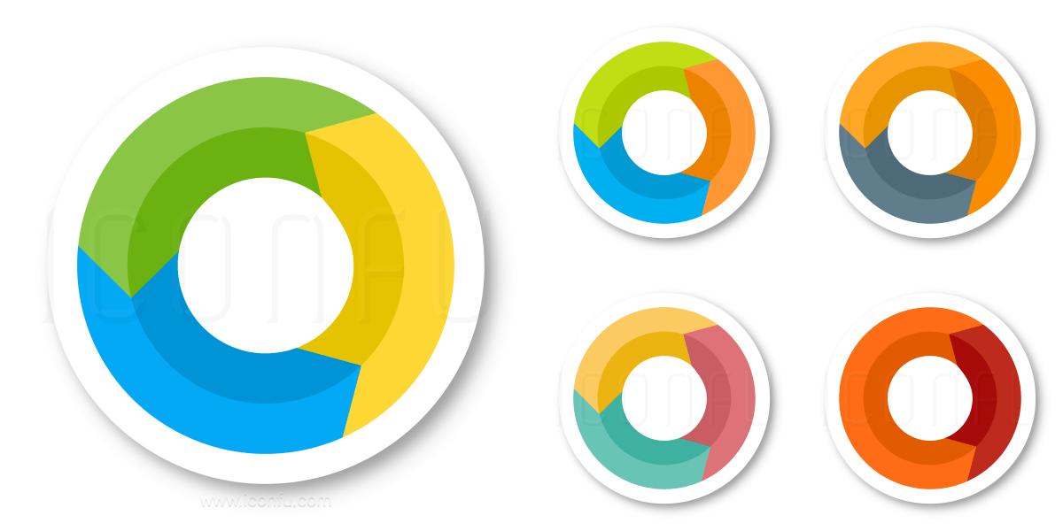 process icon sticker style