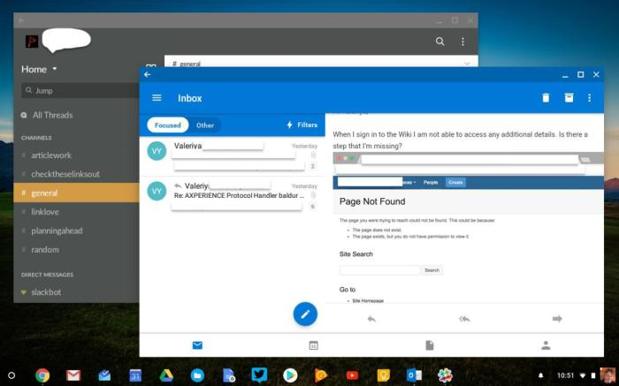 android apps chromebook outlook