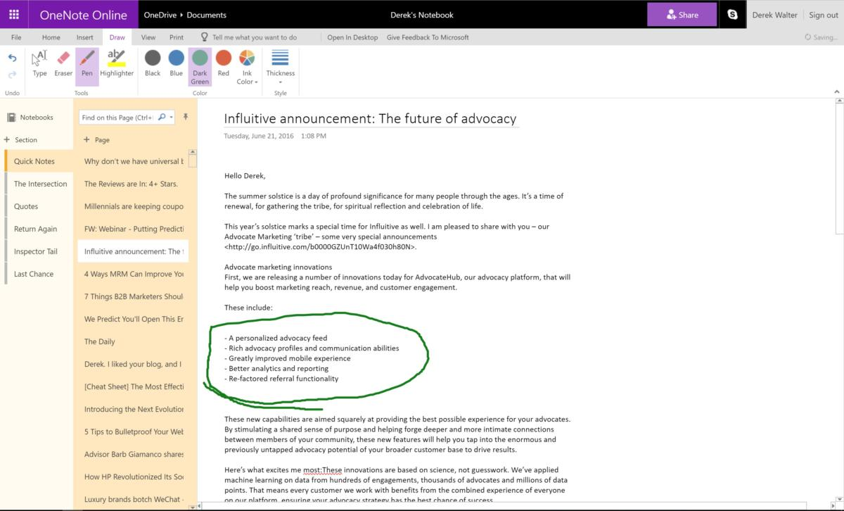 one note add ins onenote online