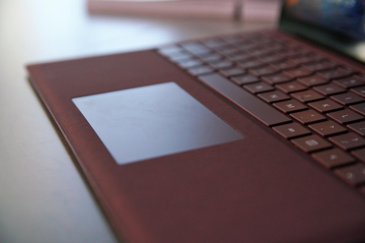 Microsoft Surface Laptop trackpad and keyboard