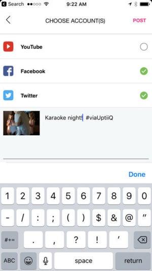 uptiiq choose accounts