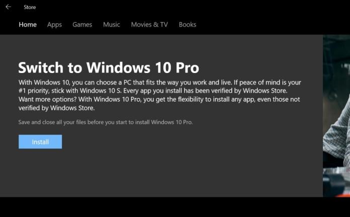 windows 10 s pro switch
