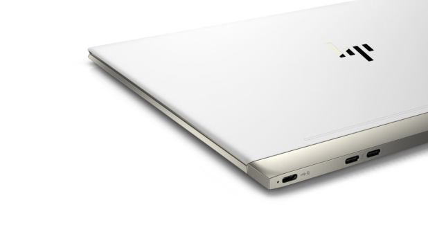 hp spectre 13 laptop aerial rear quarter closed ceramic white