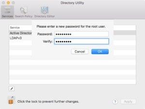 root change password