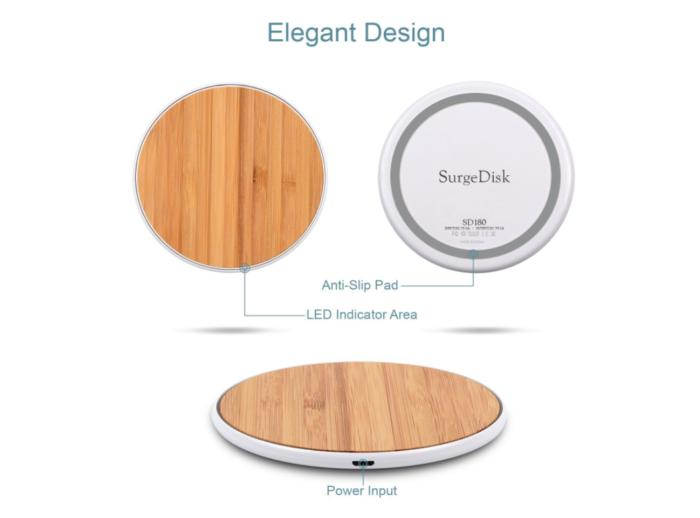 slide6 surgedisk wireless charger bamboo edition